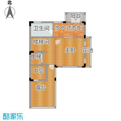 帝景山庄双拼别墅三层户型1室1卫