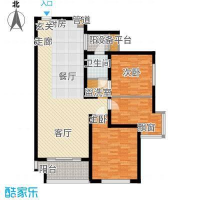 润泽东都104.00㎡润泽东都户型图D户型104平米(2/10张)户型3室2厅1卫