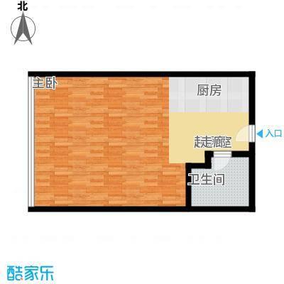 润宇国际公寓62.46㎡润宇国际公寓户型图一室一厅一卫(1/2张)户型10室