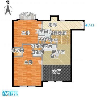 春晖・随园127.52㎡图为别墅平层图户型2室2卫