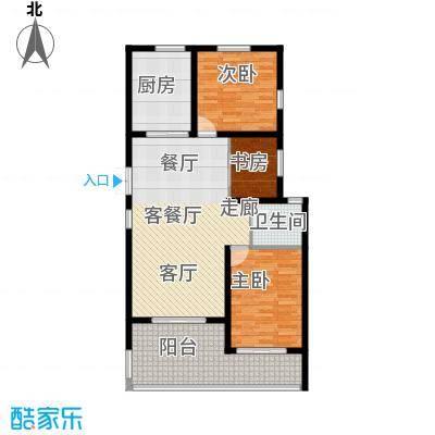 上书房108.87㎡上书房30#乙单元01室2-7层、32#乙单元01室2-8层户型图户型3室2厅1卫