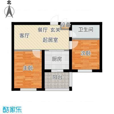 兴盛景悦蓝湾QQ户型2室1卫1厨