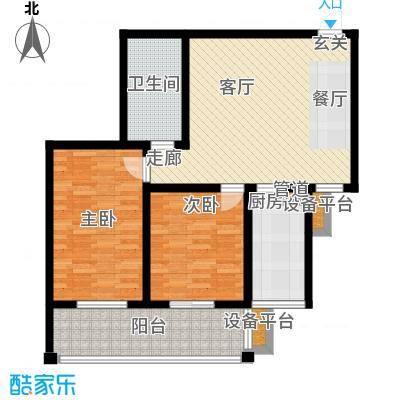 河畔景苑杰座河畔景苑36号・杰座户型2室1厅1卫1厨
