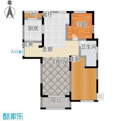 中茵星墅湾108.00㎡3、4、5号楼E户型2室2厅1卫户型2室2厅1卫