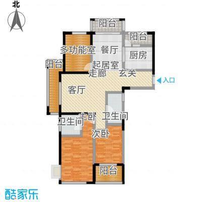 中茵星墅湾120.00㎡A1户型3室2厅2卫户型3室2厅2卫