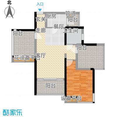 招商澜园户型图5栋A单元 C、D户型 一房两厅一卫(4/4张)