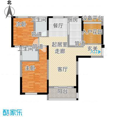 天安尚城A2+1户型2室2卫1厨