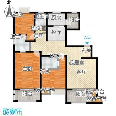 西安公馆7号楼152平米H户型