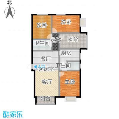 北京城建・世华泊郡128.00㎡4号楼户型3室2卫1厨