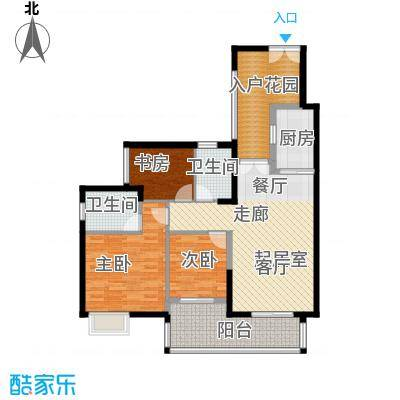 君华香柏广场98.60㎡C栋0户型3室2卫1厨