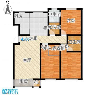 首府国际公馆首府国际公馆户型图三室两厅两卫(4/4张)户型10室