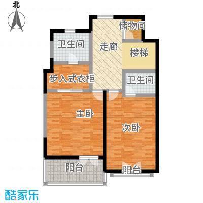 滨海湖滨海湖双拼A二层户型图2室2厅1卫1厨100.00平米户型2室2厅1卫