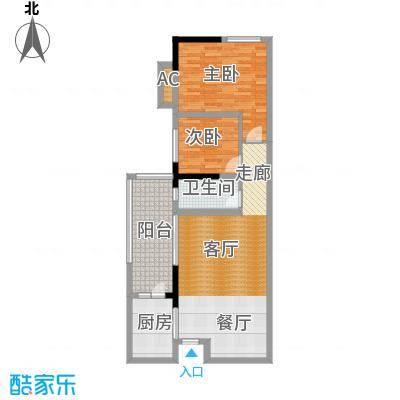 清溪商会大厦户型2室1厅1卫1厨