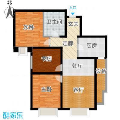 天津大都会121.00㎡五号地块 B户型3室2厅1卫