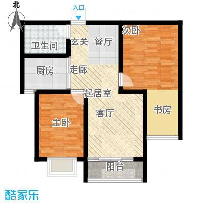 金汉御园91.40㎡C,E户型2室2厅1卫