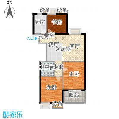 玫瑰园沁香雅居-112平米户型