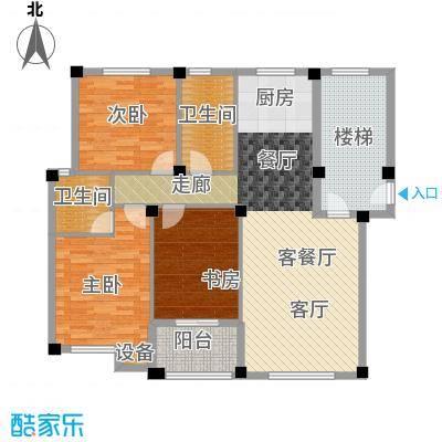 远洲国际城112.15㎡三室两厅两卫户型3室2厅2卫