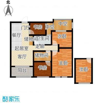 青枫壹号114.45㎡B户型2室2厅1卫