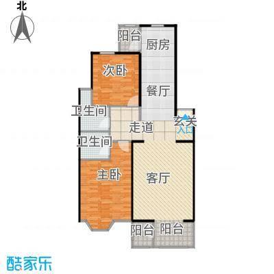 大宁山庄108.80㎡大宁山庄户型图二期A两室两厅两卫(2/8张)户型10室
