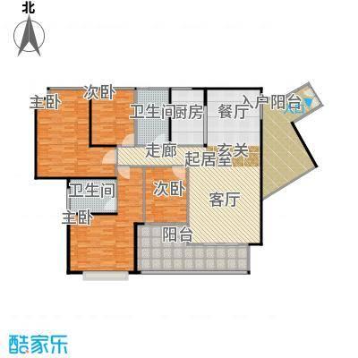 莲湖四季豪园户型4室2卫1厨