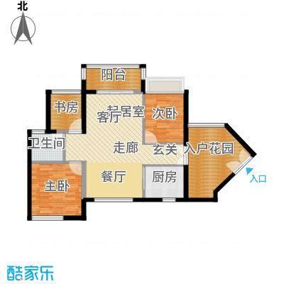 君华香柏广场91.00㎡C栋03户型3室1卫1厨
