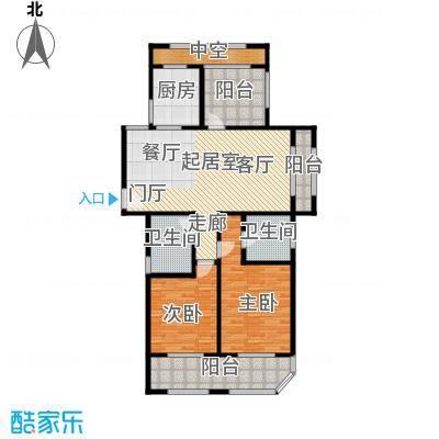 青枫壹号125.10㎡C户型2室2厅2卫户型2室2厅2卫