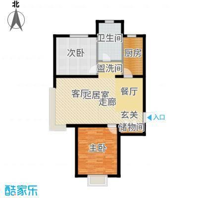 融域13496.00㎡B1户型2室2厅1卫