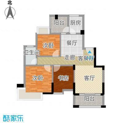 中惠香樟绿洲99.00㎡64栋居家户型3室1厅1卫1厨
