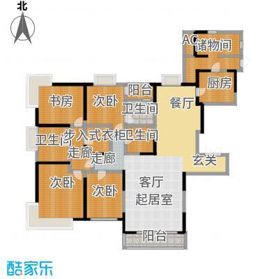 招商钻石山288.00㎡32号楼偶数标准层户型4室2厅3卫