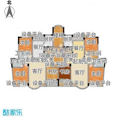 日湖花园日湖花园户型图三房-130㎡(3/3张)户型10室