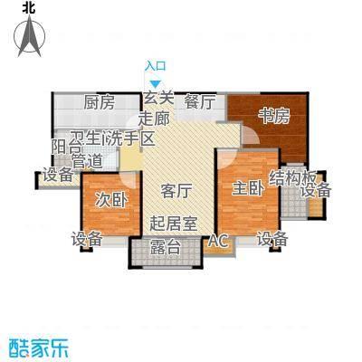 悦府・保利海德公馆三期112.31㎡二室两厅一卫户型2室2厅1卫