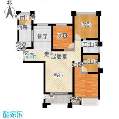 中海凯旋门127.00㎡中海凯旋门户型图A户型(2/2张)户型3室2厅2卫