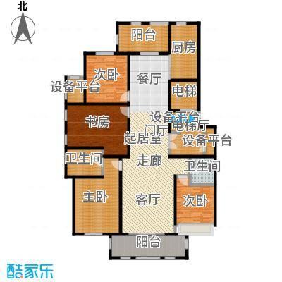 鼎旺大观191.26㎡A户型4室2厅2卫户型4室2厅2卫