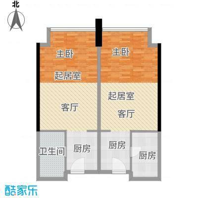 邦泰国际公寓92.00㎡10层10单元户型1卫1厨