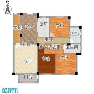 远洲国际城125.53㎡三室两厅两卫户型