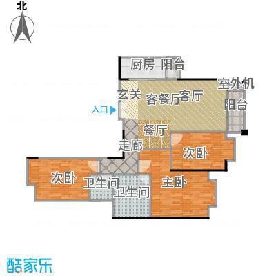 高雅湾133.70㎡4-31层C户型3室1厅2卫1厨