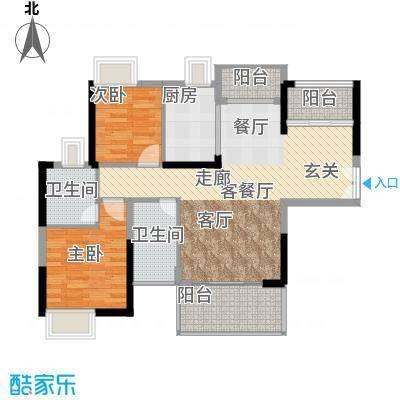 中堂东港城7号97.60㎡1栋1单元01/2单元04/3栋01户型2室1厅2卫1厨