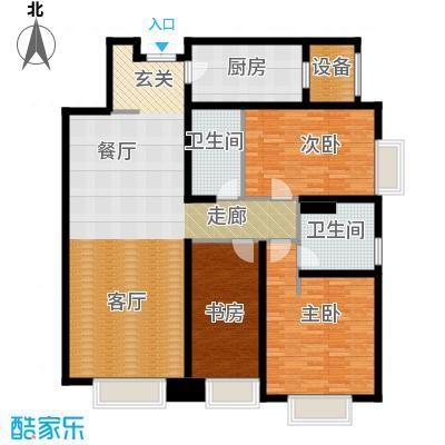 天津大都会213.00㎡2期2、3号楼标准层03户型4室2厅2卫