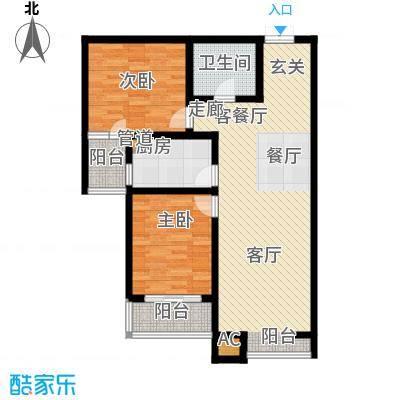 水岸茗苑90.00㎡水岸茗苑户型图(1/3张)户型10室