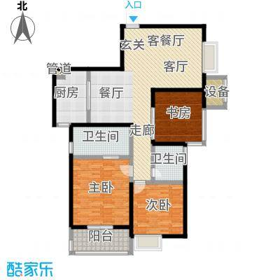 四季云顶-2户型3室1厅2卫1厨
