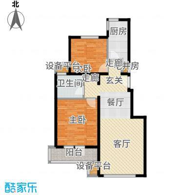 北京苏活4、5、6、7号楼F户型2室1卫1厨