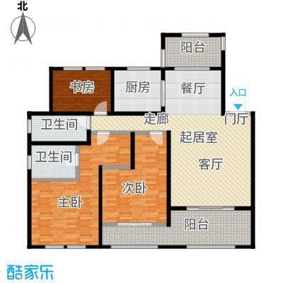 青枫壹号145.17㎡G户型 三室两厅两卫户型3室2厅2卫