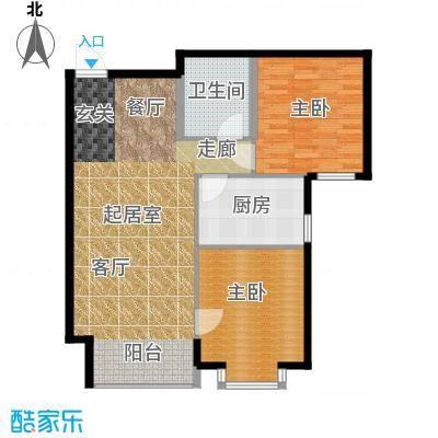 铂庭93.57㎡蒙大铂庭户型图(3/8张)户型10室