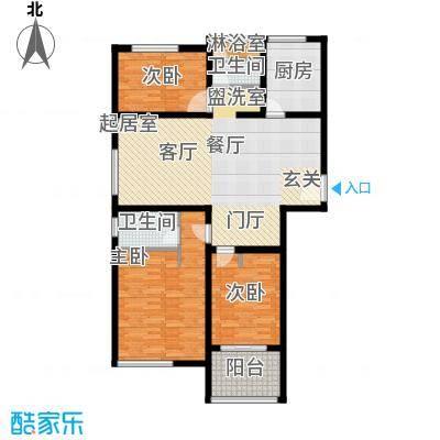 青枫国际120.00㎡青枫国际E户型2+1房户型2室2厅2卫