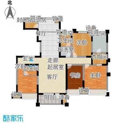 中海凯旋门203.00㎡中海凯旋门户型图C户型(1/2张)户型4室2厅3卫