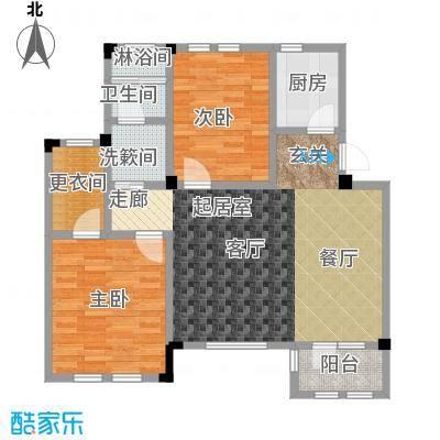 远洋假日养生庄园95.00㎡B-1A洋房 二室二厅一卫户型2室2厅1卫