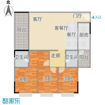 鸿福花园鸿福花园户型图A三房两厅两卫(1/4张)户型10室