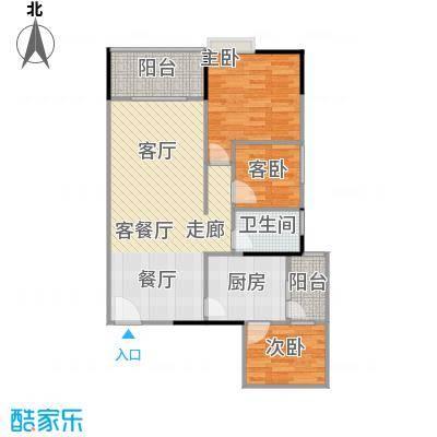 鸿福花园鸿福花园户型图C三房两厅一卫(3/4张)户型10室
