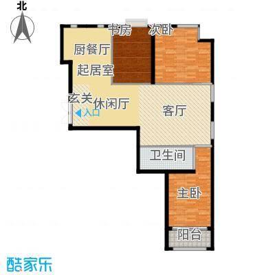 金科清都记忆129.87㎡M户型三室三厅129.87平米户型图户型3室3厅1卫