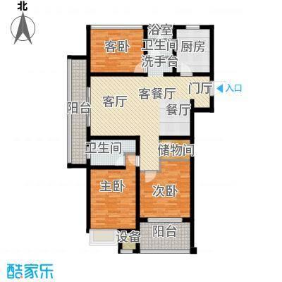上书房118.00㎡D户型两室两厅两卫+空中花园户型2室2厅2卫